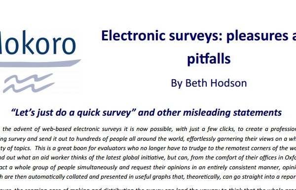 Electronic surveys: pleasures and pitfalls