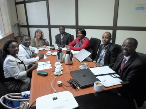 A working session at the EU offices with the visiting African Union Mission
