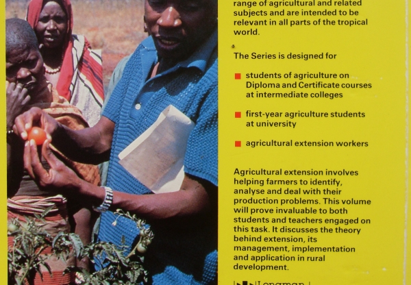 Agricultural extension, then and now