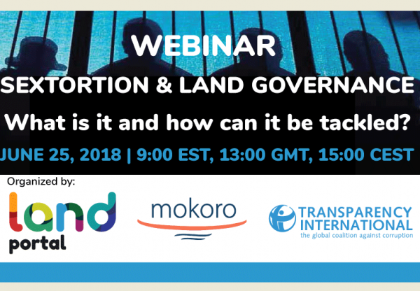 Mokoro co-host a webinar on sextortion in land governance