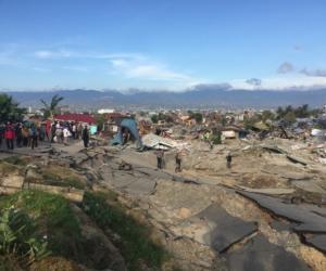 Sulawesi post-tsunami wreckage