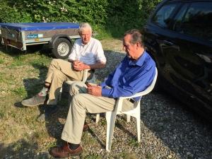 Robin Palmer (left) with Martin Adams in Denmark (Photo by Stephen Turner).